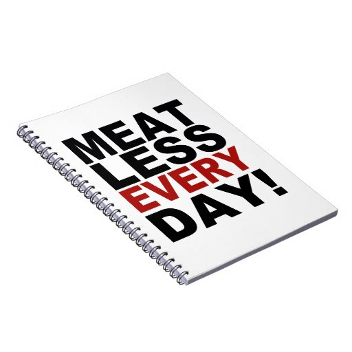 Meatless cada día spiral notebook