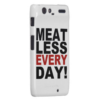 Meatless Every Day Droid RAZR Cases