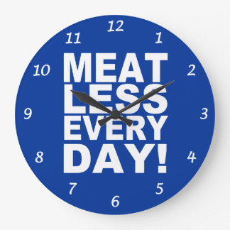 Meatless Every Day Wall Clock