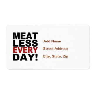 Meatless Every Day Label
