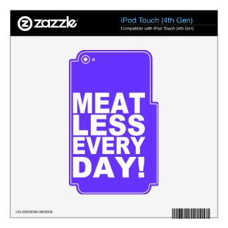 Meatless Everyday Decals For iPod Touch 4G