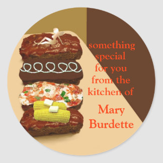 Meatloaf Buffet Personalized Classic Round Sticker
