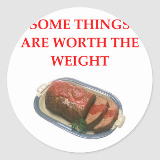 MEATLOAF CLASSIC ROUND STICKER