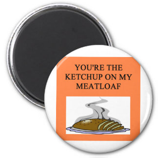 meatloaf lovers 2 inch round magnet