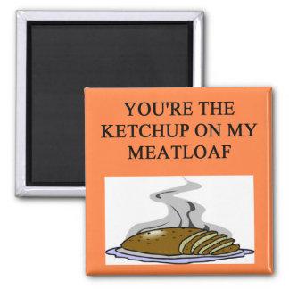 meatloaf lovers 2 inch square magnet