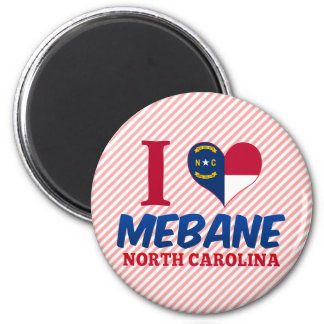Mebane, North Carolina 2 Inch Round Magnet
