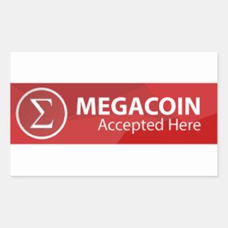 MEC Megacoin Rectangle Stickers