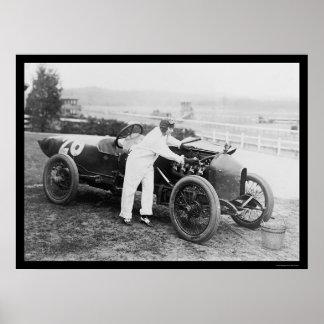 Mecánico 1916 de la mujer del corredor de Stutz Posters