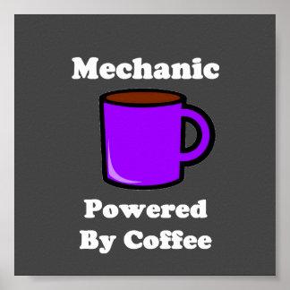 """""""Mecánico"""" accionado por el café Póster"""