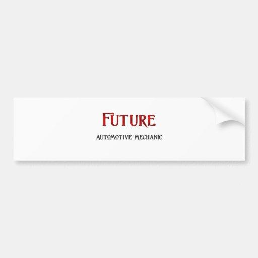 Mecánico automotriz futuro pegatina para auto