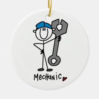 Mecánico con la figura del palillo de la llave adornos de navidad