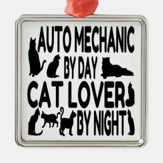 Mecánico de automóviles del amante del gato ornamente de reyes