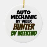 Mecánico de automóviles del cazador de la semana adorno de navidad