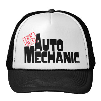 Mecánico de automóviles divertido gorras