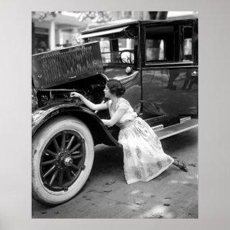 Mecánico de automóviles elegante poster