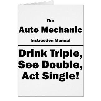 mecánico de automóviles tarjeta pequeña