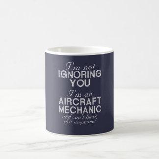 Mecánico de aviones taza de café