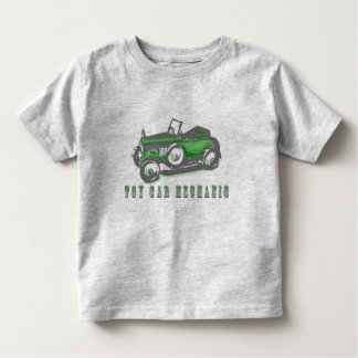 Mecánico de coche del juguete playera de bebé