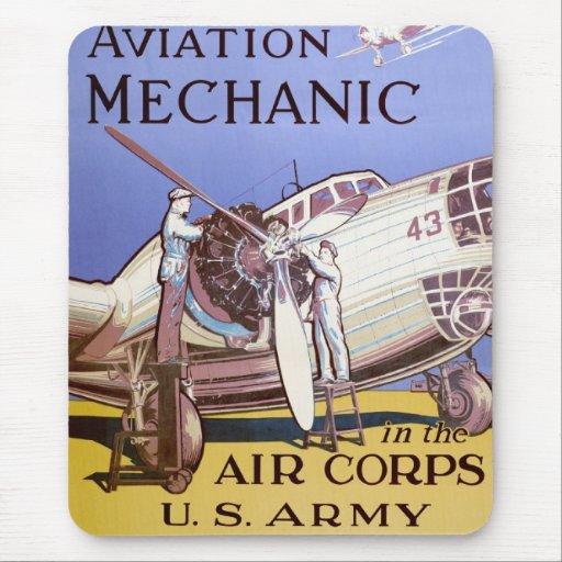 Mecánico de la aviación alfombrilla de ratón