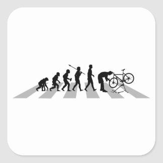 Mecánico de la bicicleta pegatina cuadrada