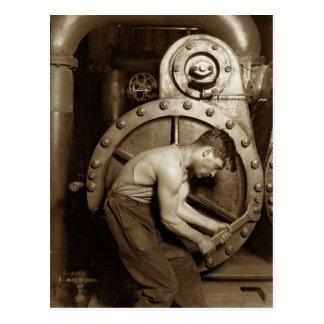 Mecánico de la bomba de vapor tarjetas postales