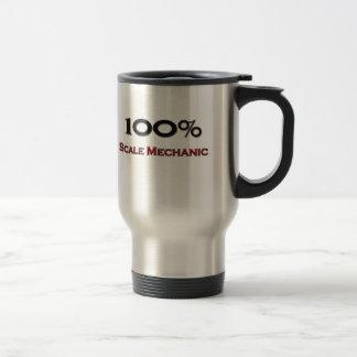 Mecánico de la escala del 100 por ciento taza de café
