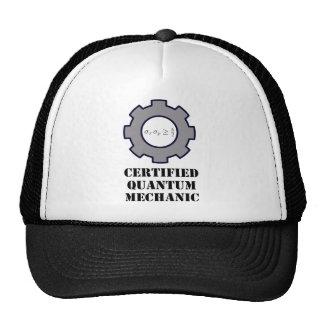 mecánico de quántum, principio de incertidumbre gorras de camionero