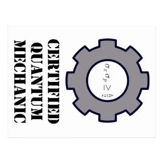 mecánico de quántum, principio de incertidumbre postales