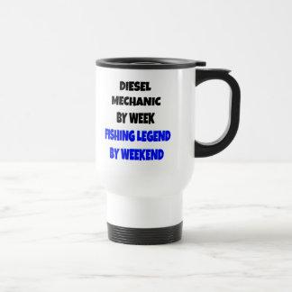 Mecánico del diesel de la leyenda de la pesca taza de café