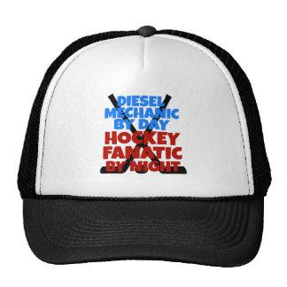 Mecánico del diesel del amante del hockey gorros bordados