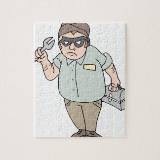 Mecánico del ladrón de la manitas puzzle
