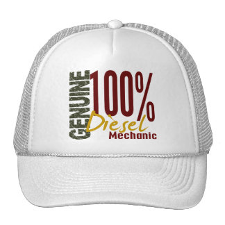 Mecánico diesel auténtico gorras de camionero