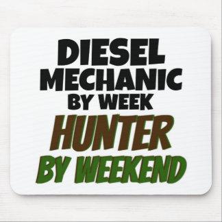 Mecánico diesel del cazador de la semana por fin d alfombrilla de ratón