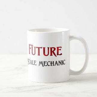 Mecánico futuro de la escala tazas de café