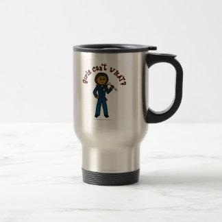 Mecánico oscuro taza de café