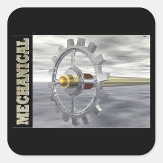 Mecánico Pegatina Cuadrada