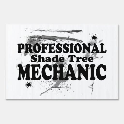 Mecánico profesional del árbol de sombra señales