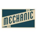 mecánico retro tarjetas de visita