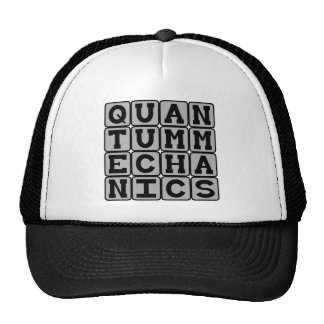 Mecánicos de Quantum, concepto de la física Gorras
