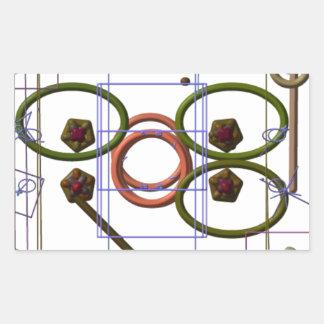 Mecánicos de Quantum Pegatina Rectangular