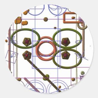 Mecánicos de Quantum Pegatina Redonda