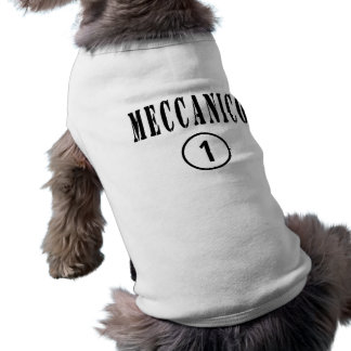 Mecánicos italianos: Uno de Meccanico Numero Playera Sin Mangas Para Perro