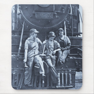 Mecánicos locomotores de las mujeres 1918 WWI Alfombrillas De Ratones