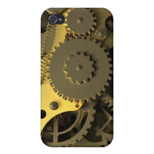 Mecanismo abstracto del oro iPhone 4 carcasa