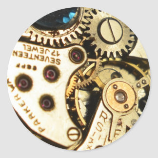 mecanismo de relojería pegatina