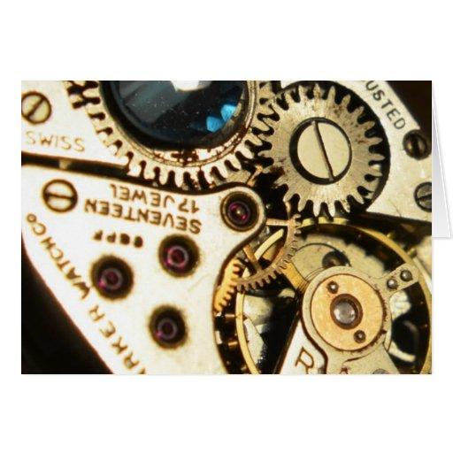 mecanismo de relojería tarjeta