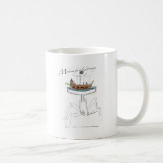Mecanismo para el pirateo interior taza de café