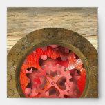 mecanismo rojo del steampunk