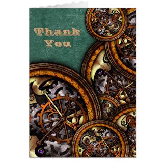 Mecanismo y cuero, gracias tarjeta