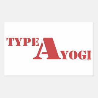 Mecanografíe a yogui los pegatinas rectangular altavoces